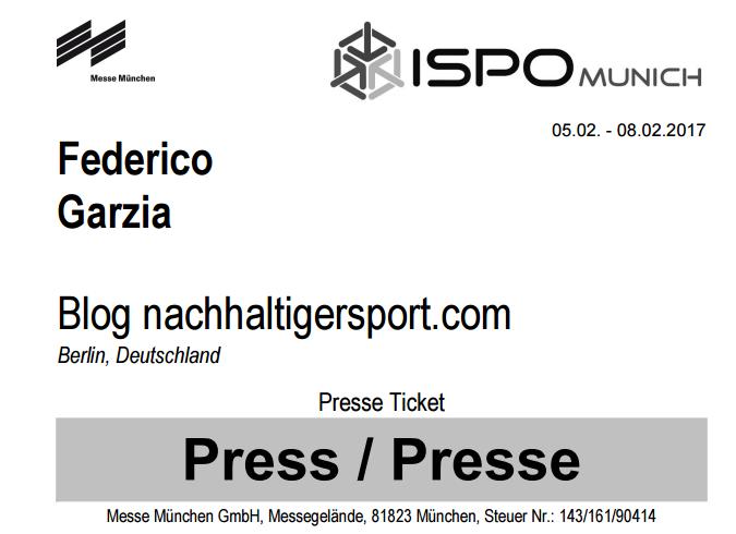 Fiera ISPO Munich 2017 certificazione sport sostenibile